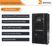 Off grid hybrid three phase inverter solar power system 40kva solar inverter