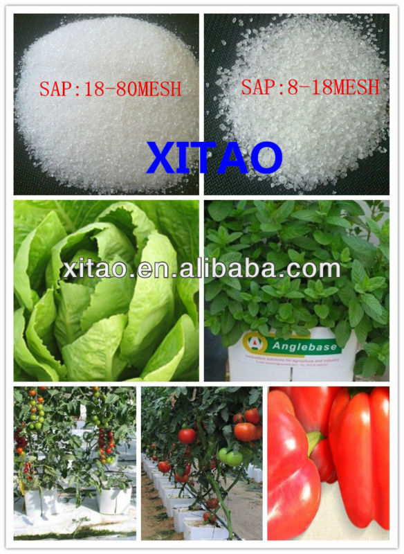Water retention super absorbent polymer hydrogel for agriculture use