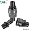 Brass flat face hydraulic quick release coupling / quick coupling hose connectors