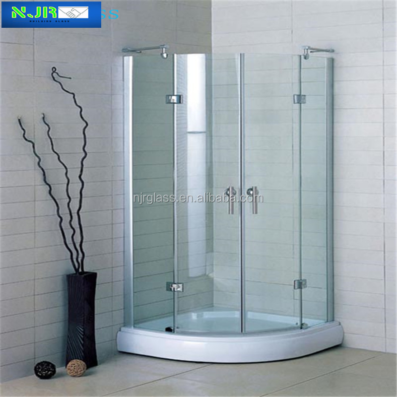 hot selling shower partition tempered glass
