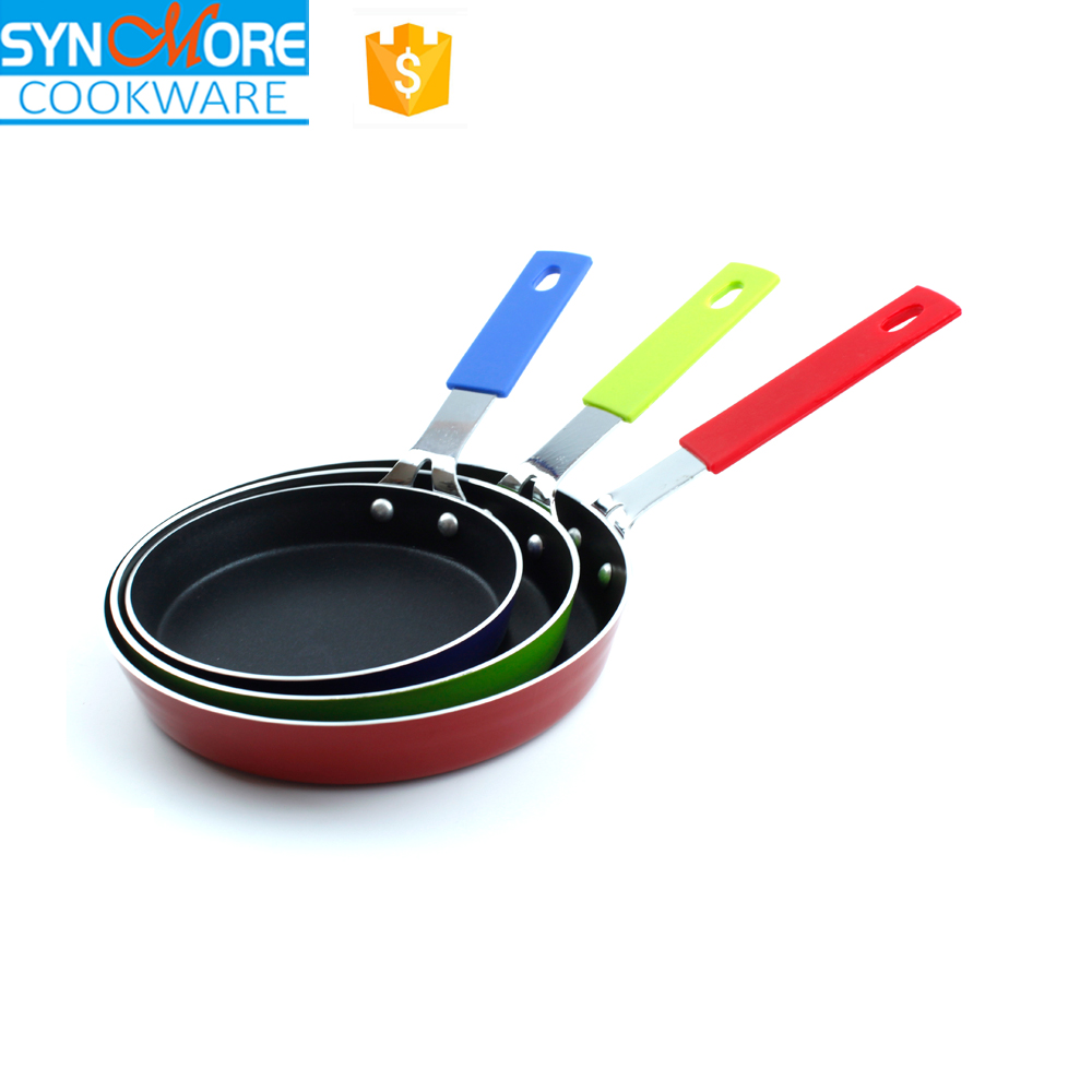 12cm/14cm/16cm Aluminium Alloy Non Stick Pan with Silicone / Bakelite Handle