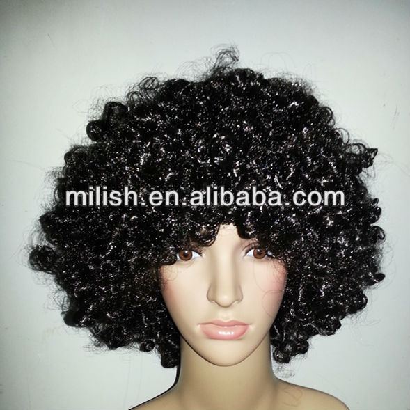 MPW-1011 Party Black Afro Wigs/ Cheap wigs for Carnival/Halloween