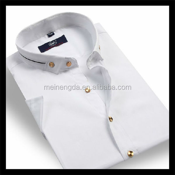 fashionable white shirts with epaulets for selling