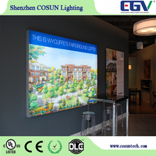 Custom made outdoor or Indoor Aluminum advertising LED Frameless strength tension Fabric Light Box with dye sublimation