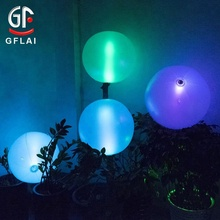 "High Quality 20"" PVC Toy Ball Big Size Led Flashing Inflatable Earth Globe Beach Ball"