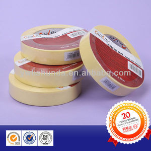 Economy Yellow Masking tape Crepe paper tape