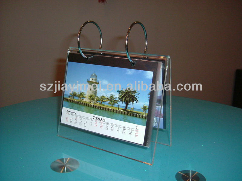 2013 wholesale fashion acrylic table calendar design with EXW price