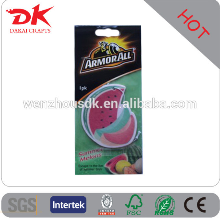 car freshener factory have hot sales new design hanging Paper car air freshener