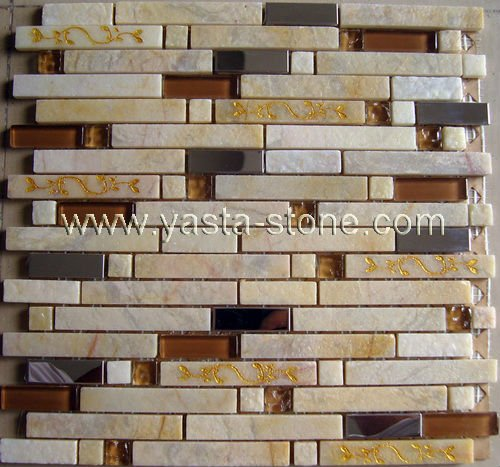 Natural stone mixed resin sculpture mosaics