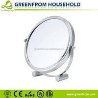 Desktop double side chrome metal mirror frame