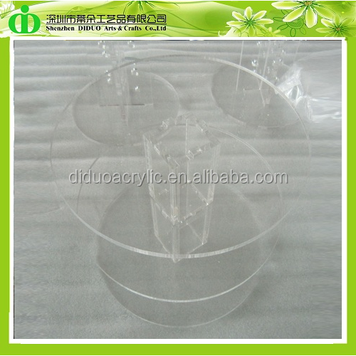 DDC-039 Chinese Factory Wholesale Clear Cascade Cake Stand 3 Tier, 3-Layer Cake Stand, Tiered Cake Stand Hardware
