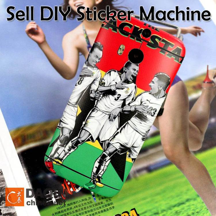 Start home business with mobile sticker making machine