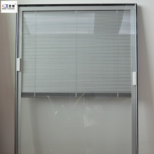 Guangzhou factory double glazing glass blind built inside louver window and door aluminum venetian blinds