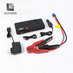 New 12000mah 1200A smart jumper cables quick charger usb 3.0 Type C port car jump start power bank