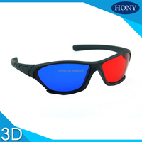 Plastic Red Cyan 3D Glasses Anaglyph Red Blue For PC In Stock
