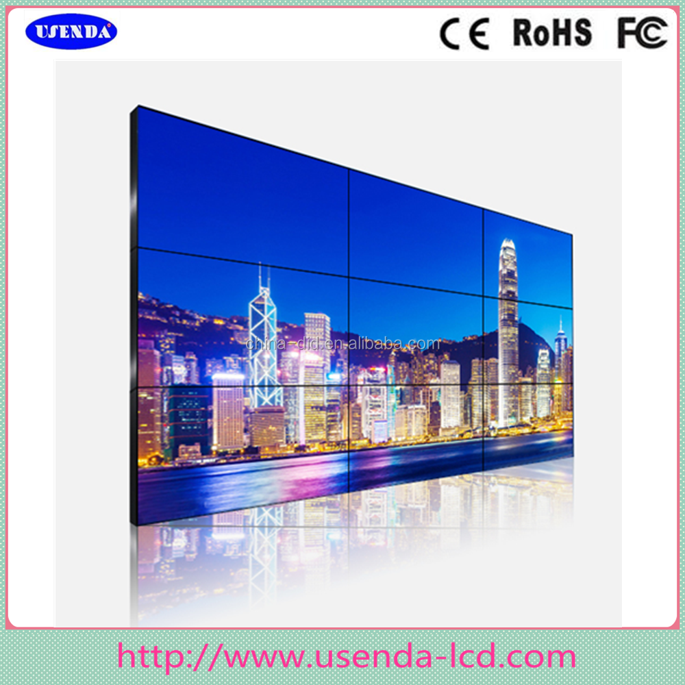 Good Price 4K 55Inch DID Full High Definition TV Display/Player .3.5mm Ultra Narrow Bezel Lcd Video Wall