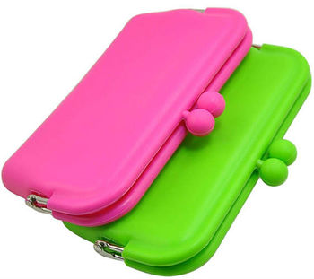 Hot sale Silicone Pouch Wallet Purse for Lady