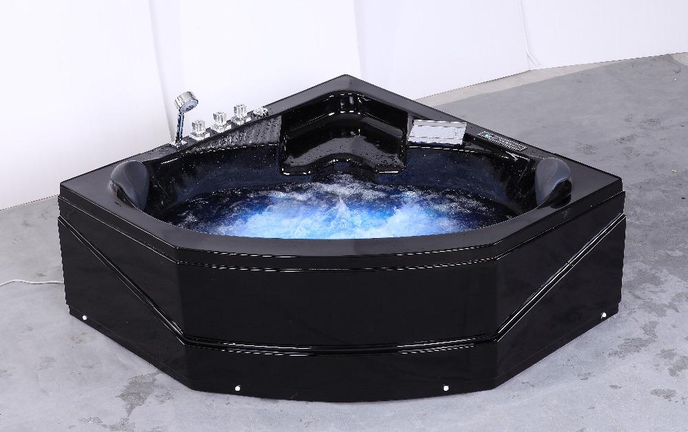 hs b230 noir jet coin massage baignoire remous noir. Black Bedroom Furniture Sets. Home Design Ideas