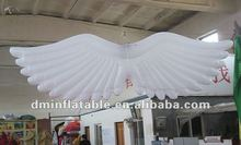 2012 hot item decor inflatable hanging wing with led light