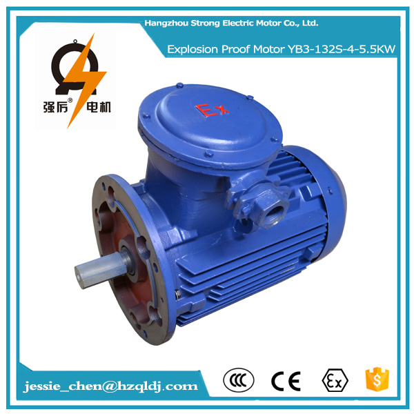 5.5KW 7.5HP 4P ac explosion proof electric motor with B3, B5 and B35 mounting