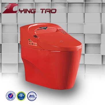 high quality s-trap sanitary ware ceramic coloured smart toilet with red