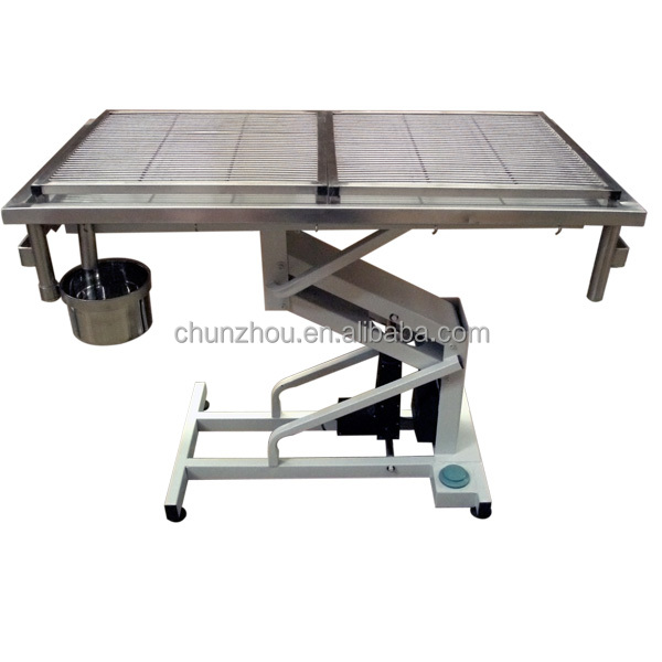 Lifting Stainless steel Pet operating table/H-203