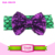 Hair Bow Boutique Sequin Paillette Mermaid Fabric Headbands For Baby Princess Valentine's Day