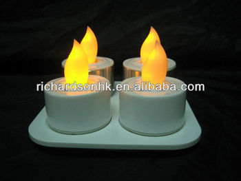 4 LED tea light rechargeable version (plastic)