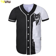 mens baseball tee white with black sleeve