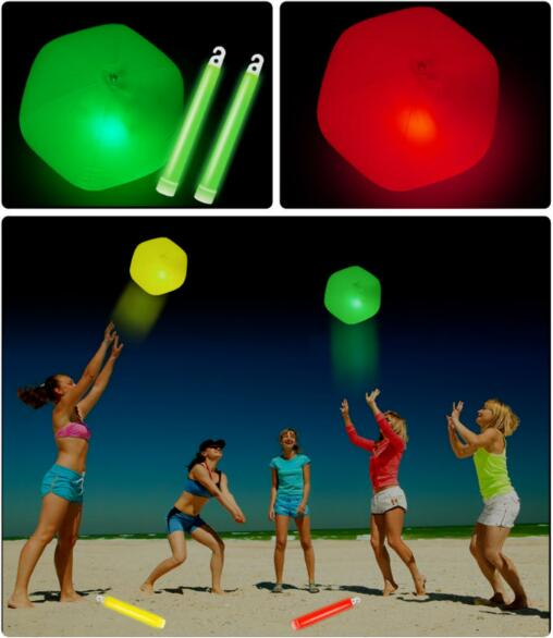 Glow in the dark tennis balls LED glow ball fluorescent toy beach balls