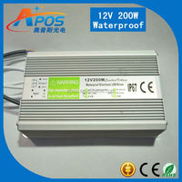 Meanwell 12V 200W 16.7A Single Output Waterproof Switching Power Supply IP67 Constant Voltage Design