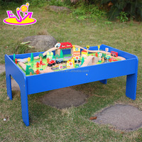 wholesale cheap educational wooden train track toys for children W04C009A