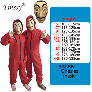 Money Heist The House of Paper La Casa De Papel Cosplay Costume for Men Women Kids Salvador Dali Halloween Carnival Costume
