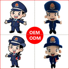 High Quality Police Man and Woman Doll Toy OEM/ODM With Hat