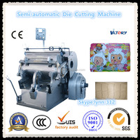 2014 Hot Sale CE Standard Die Creasing and Cutting Machine, automatic paper die cutting machine