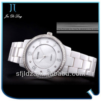 From Chinese Limited Ceramic Quartz Analog Watch White