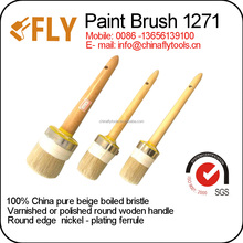 round brush soft natural bristle