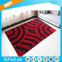 Red big striped pattern commercial carpet in the philippines
