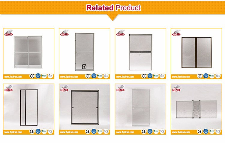 High quality DIY aluminum frame insect door mosquito screen with pet door