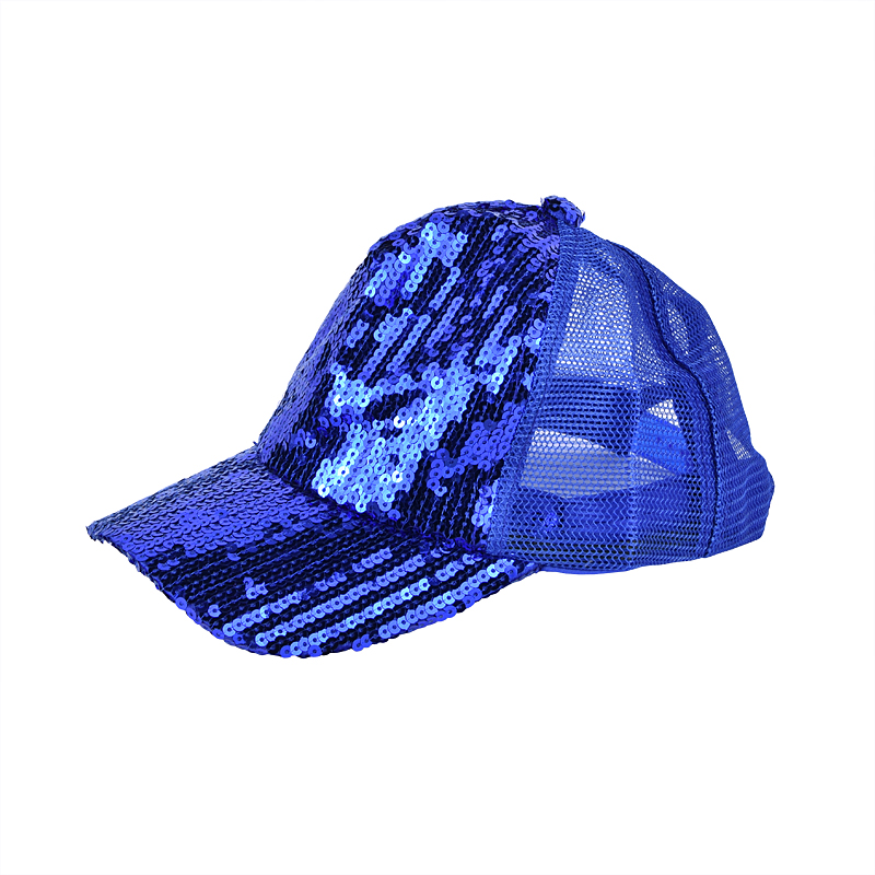 Multi color sun visor sequin mesh sports cap hat for kids
