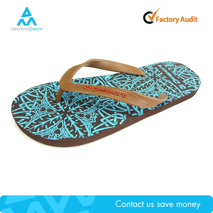 Factory summer manufacture cheap blue heat s man slide slipper
