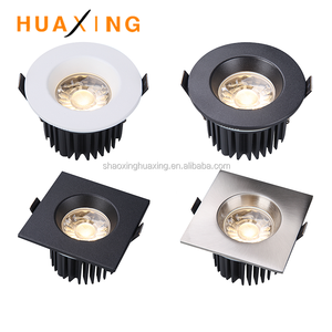 Factory hot sale 8W 10W recessed Dimmable COB LED Downlight with Interchangeable Bezel, cct adjustable and fire rated