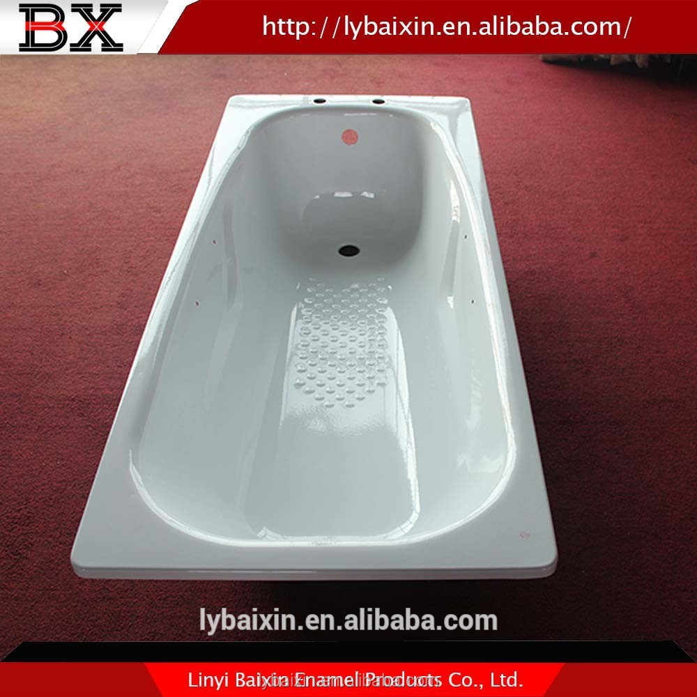 High evaluation porcelain on steel bathtub vs acrylic,steel bathtub with antislip,enameled steel bathtub skirted