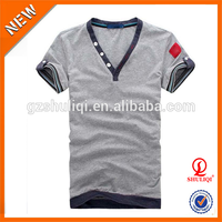 wholesale goods from china slim fit man t-shirt v-neck short sleeve cheap t shirt fashion design