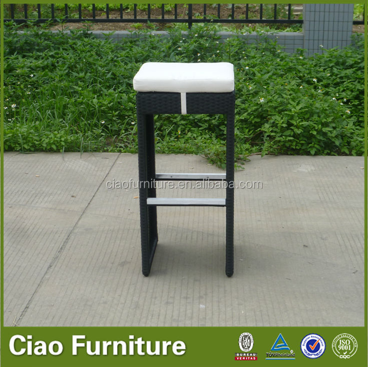 Modern bar furniture outdoor chair rattan bar stools