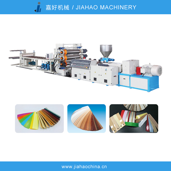 JiaHao machinery PVC Edge Band Sheet Production Line,High intensity,different color to choose,producing PVC edge banging