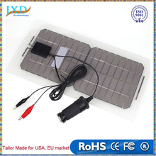 18V 5.5W Solar Panel Bank Portable Flexible Solar Power Panel Car Battery Charger with Cable
