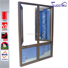 China suppliers tempered glass mullion frech casement sash aluminum door and window