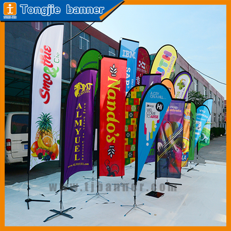 China customized artwork printing high definition teardrop flag