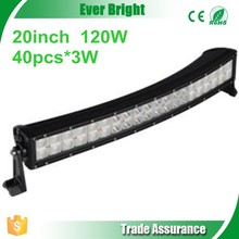 Small Curved Led Light Bar 120W 20inch arc-shaped arced camber Offroad led light bar Arc Led Light Bar car roof top light bar